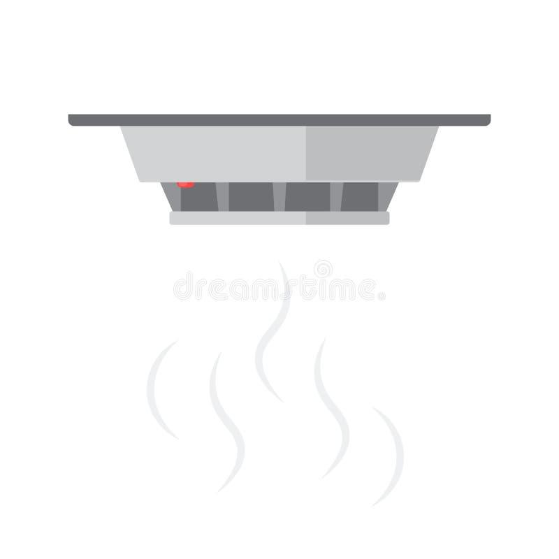 Εικονίδιο ανιχνευτών καπνού απεικόνιση αποθεμάτων