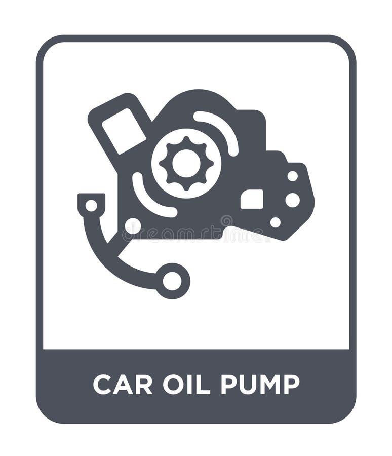 εικονίδιο αντλιών πετρελαίου αυτοκινήτων στο καθιερώνον τη μόδα ύφος σχεδίου εικονίδιο αντλιών πετρελαίου αυτοκινήτων που απομονώ απεικόνιση αποθεμάτων