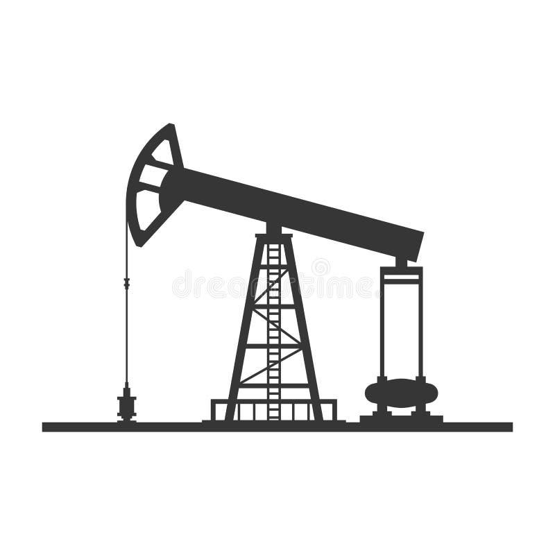 Εικονίδιο αντλιών πετρελαίου στο άσπρο υπόβαθρο διάνυσμα απεικόνιση αποθεμάτων