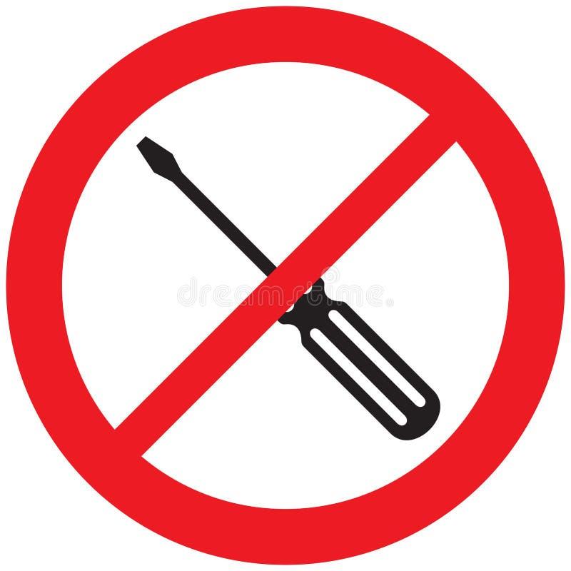 Εικονίδιο απαγόρευσης κατσαβιδιών ελεύθερη απεικόνιση δικαιώματος
