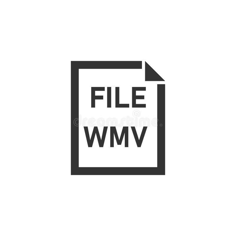 Εικονίδιο αρχείων WMV επίπεδο απεικόνιση αποθεμάτων