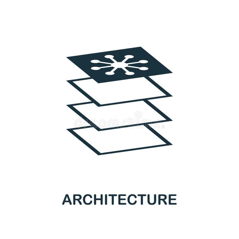Εικονίδιο αρχιτεκτονικής Μονοχρωματικό σχέδιο ύφους από τη συλλογή εικονιδίων εκμάθησης μηχανών UI και UX Τέλειο εικονίδιο αρχιτε ελεύθερη απεικόνιση δικαιώματος