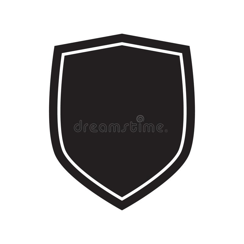 Εικονίδιο ασπίδων Εικονίδιο προστασίας Σημάδι απεικόνιση αποθεμάτων