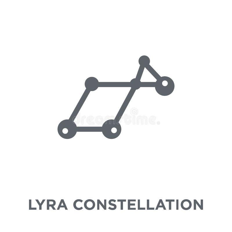 Εικονίδιο αστερισμού Lyra από τη συλλογή αστρονομίας ελεύθερη απεικόνιση δικαιώματος