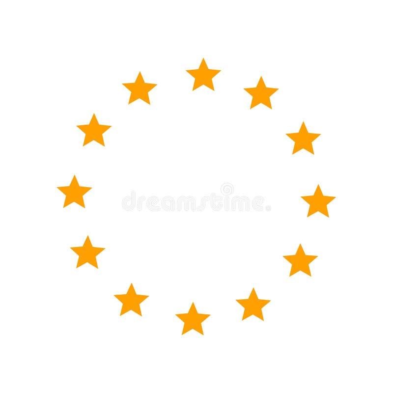 Εικονίδιο αστεριών ένωσης της Ευρώπης ελεύθερη απεικόνιση δικαιώματος