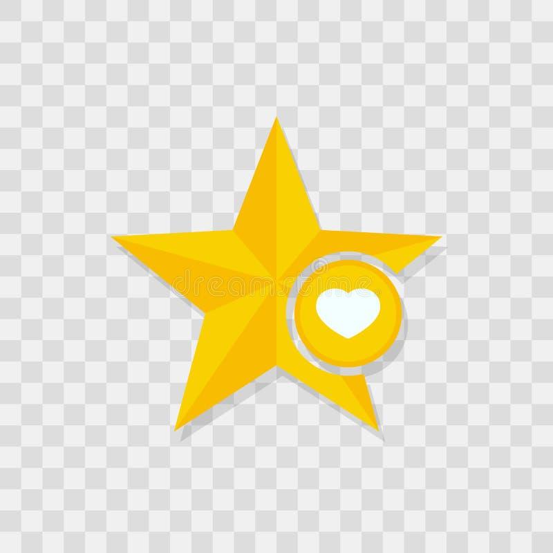 Εικονίδιο αστεριών, εικονίδιο καρδιών ελεύθερη απεικόνιση δικαιώματος