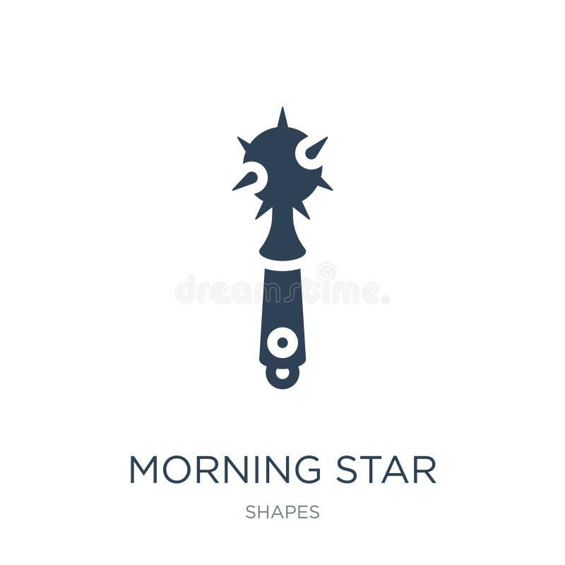εικονίδιο αστεριών πρωινού στο καθιερώνον τη μόδα ύφος σχεδίου εικονίδιο αστεριών πρωινού που απομονώνεται στο άσπρο υπόβαθρο δια ελεύθερη απεικόνιση δικαιώματος