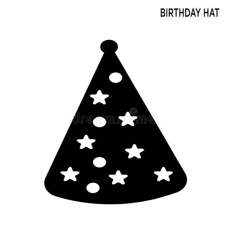 Εικονίδιο αστεριών σημείων καπέλων γενεθλίων απεικόνιση αποθεμάτων