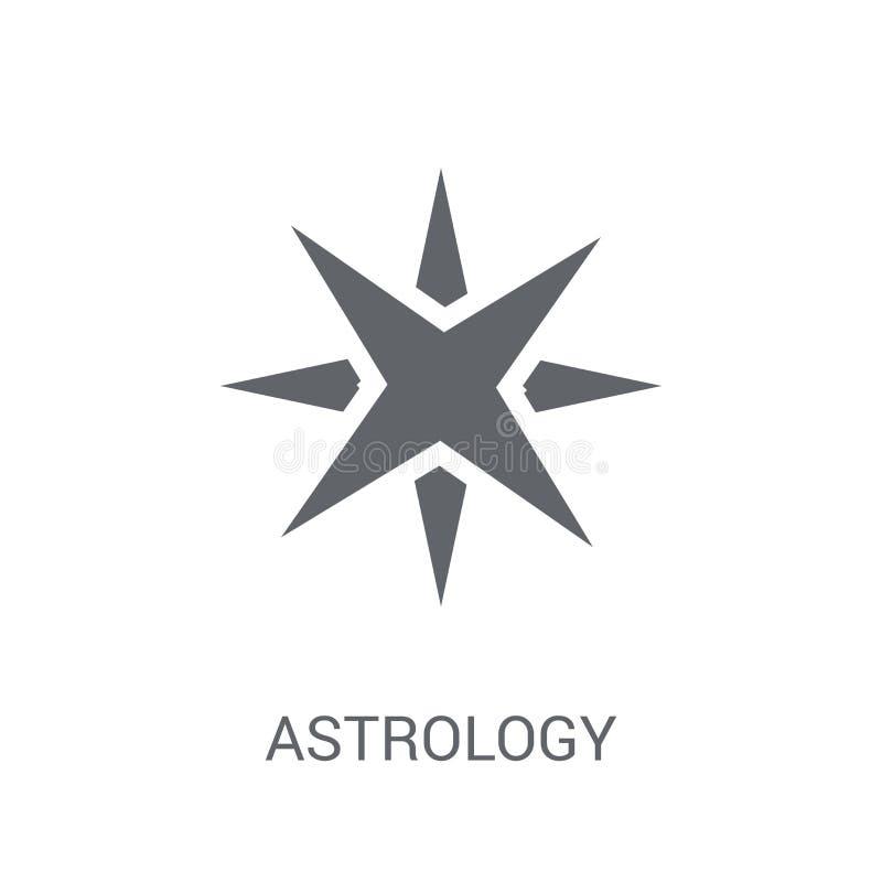 Εικονίδιο αστρολογίας  διανυσματική απεικόνιση