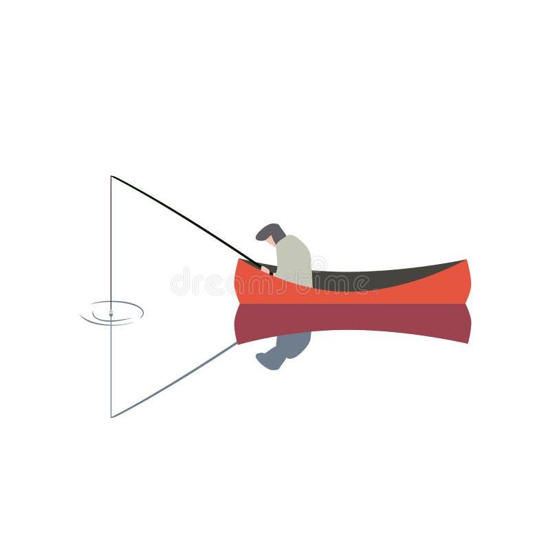 Εικονίδιο ατόμων αλιείας ελεύθερη απεικόνιση δικαιώματος