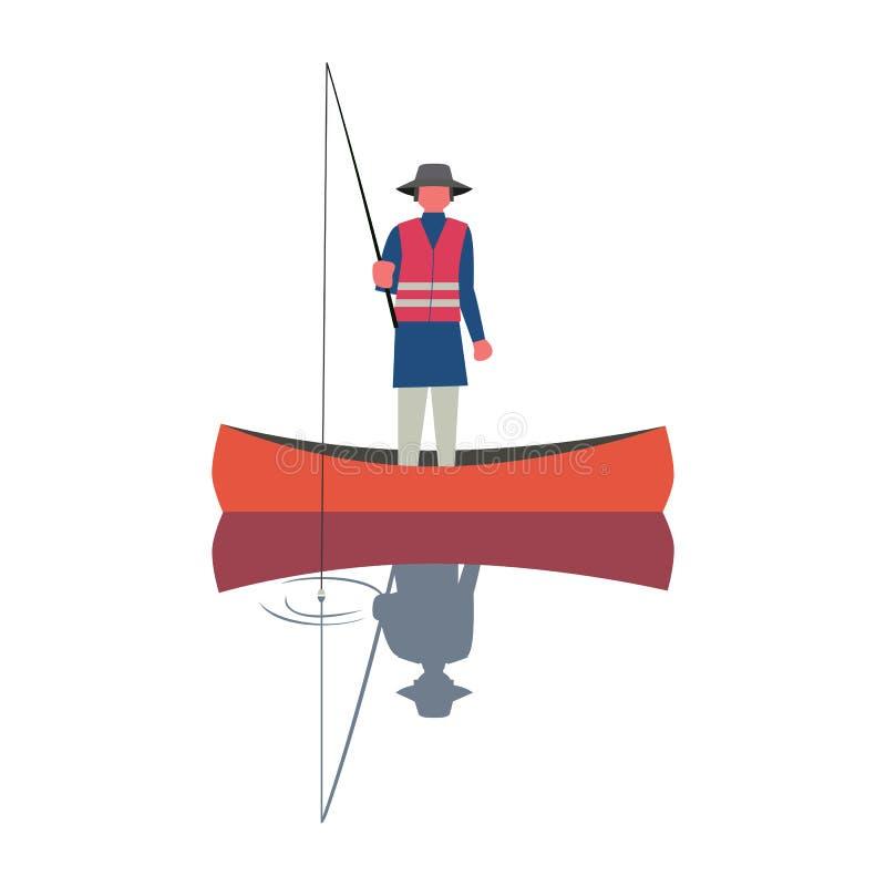 Εικονίδιο ατόμων αλιείας απεικόνιση αποθεμάτων