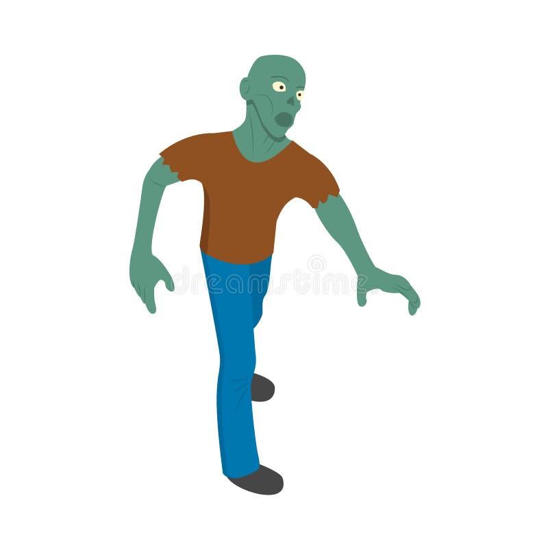 Εικονίδιο ατόμων Zombie, isometric ύφος ελεύθερη απεικόνιση δικαιώματος