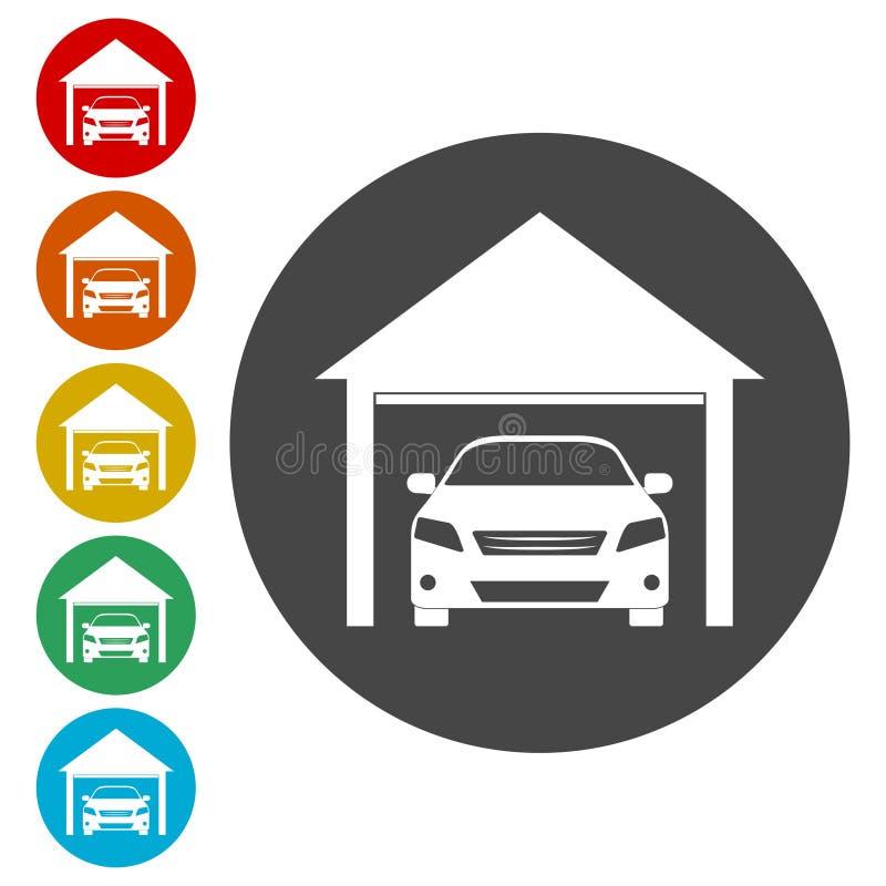 Εικονίδιο αυτοκινήτων γκαράζ ελεύθερη απεικόνιση δικαιώματος