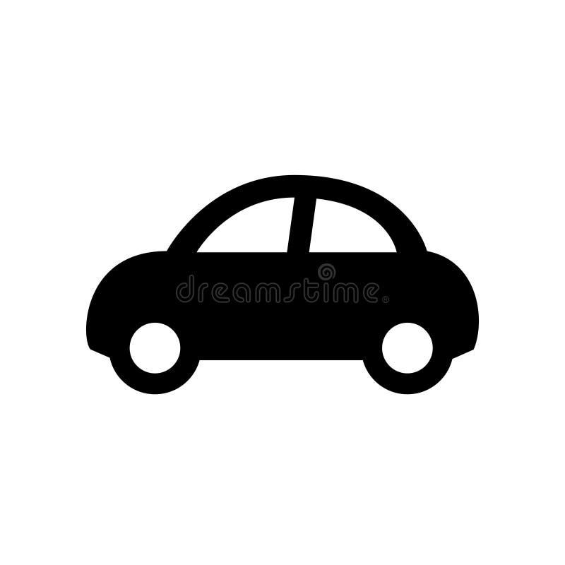 Εικονίδιο αυτοκινήτων που απομονώνεται στο λευκό ελεύθερη απεικόνιση δικαιώματος