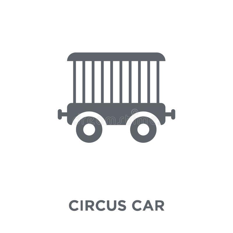 Εικονίδιο αυτοκινήτων τσίρκων από τη συλλογή τσίρκων διανυσματική απεικόνιση