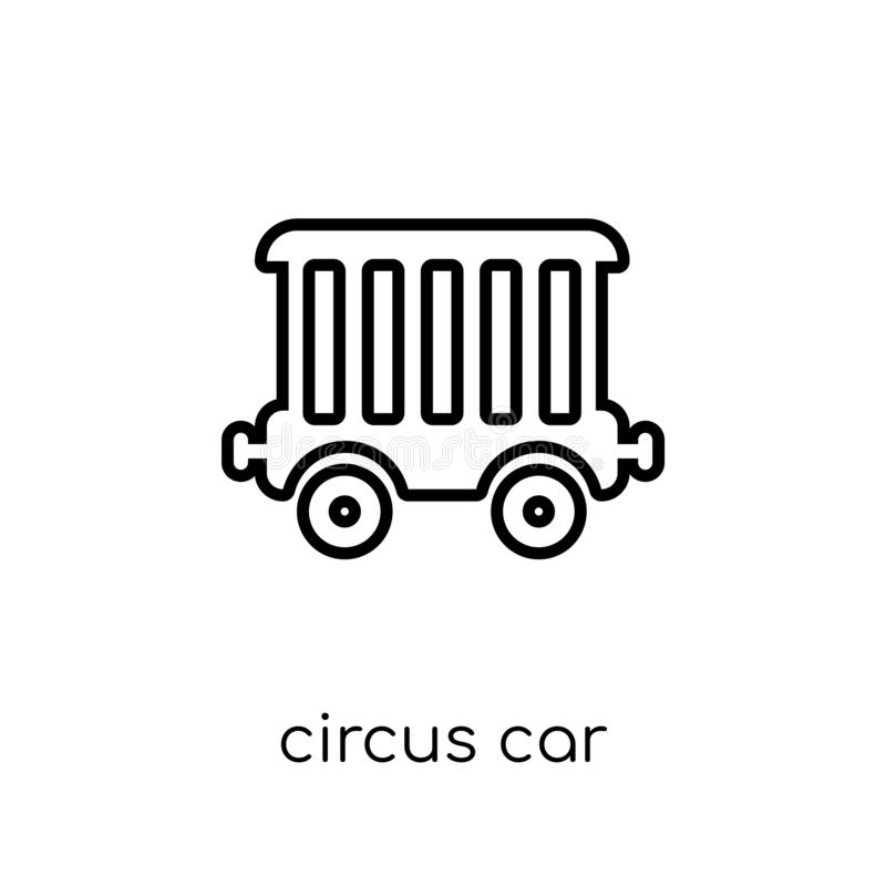 Εικονίδιο αυτοκινήτων τσίρκων από τη συλλογή τσίρκων απεικόνιση αποθεμάτων