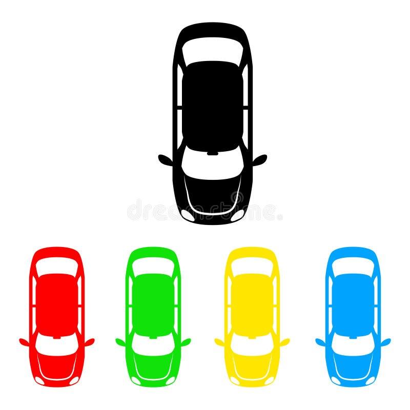 Εικονίδιο αυτοκινήτων χρώματος σημάτων ζώνης χώρων στάθμευσης για το διάνυσμα σχεδίου σας illust απεικόνιση αποθεμάτων