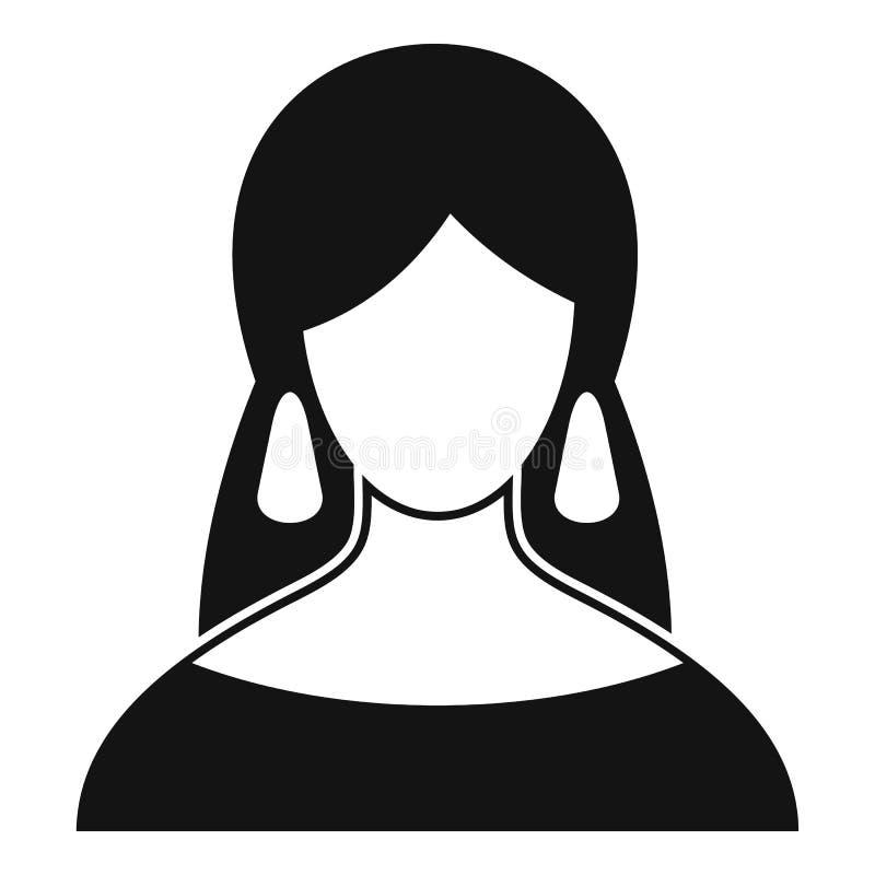 Εικονίδιο αφηγητών τύχης, απλό ύφος διανυσματική απεικόνιση