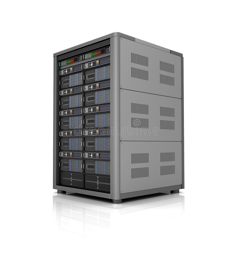 Εικονίδιο βάσεων δεδομένων αποθήκευσης κεντρικών υπολογιστών πέρα από το λευκό r στοκ εικόνες