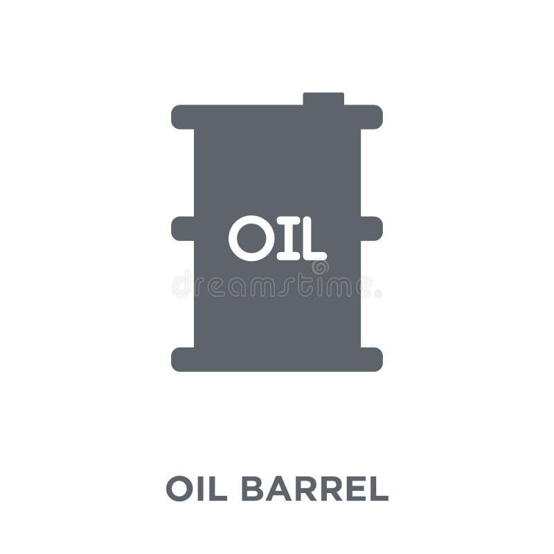 Εικονίδιο βαρελιών πετρελαίου από τη συλλογή βιομηχανίας απεικόνιση αποθεμάτων