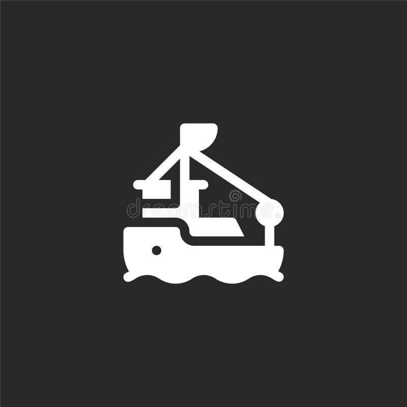 εικονίδιο βαρκών Γεμισμένο εικονίδιο βαρκών για το σχέδιο ιστοχώρου και κινητός, app ανάπτυξη εικονίδιο βαρκών από τη γεμισμένη σ απεικόνιση αποθεμάτων