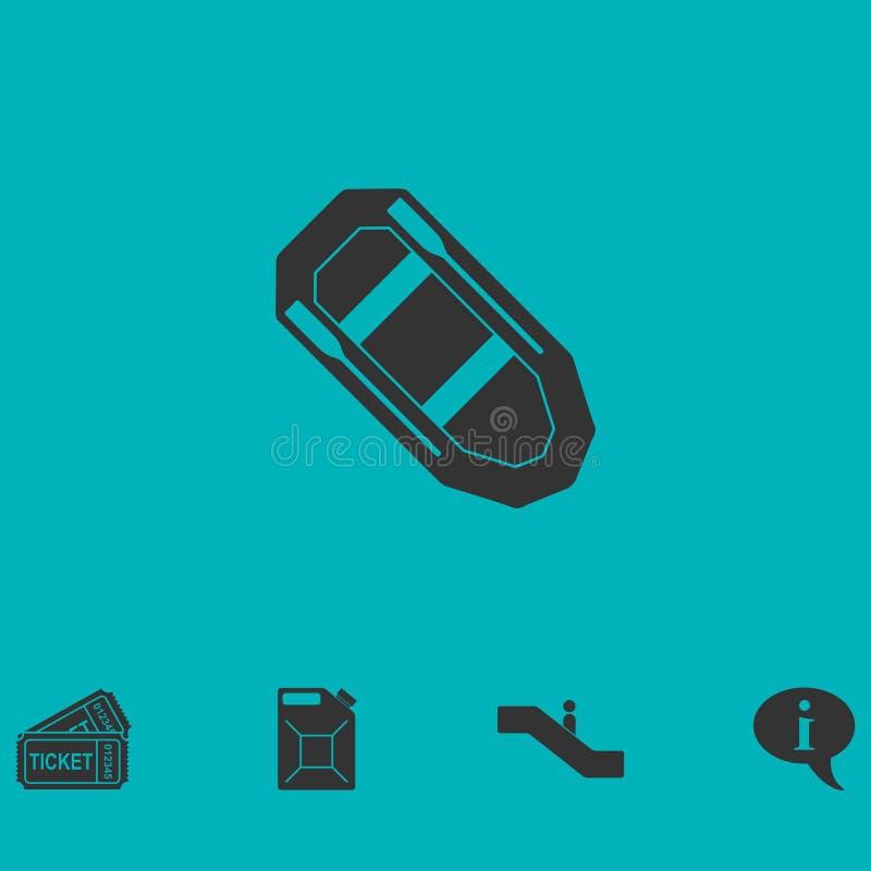 Εικονίδιο βαρκών κωπηλασίας οριζόντια ελεύθερη απεικόνιση δικαιώματος