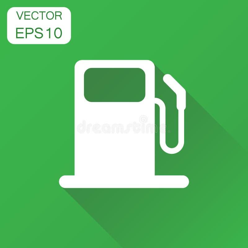 Εικονίδιο βενζινάδικων καυσίμων Αντλία πετρελαίου αυτοκινήτων επιχειρησιακής έννοιας ελεύθερη απεικόνιση δικαιώματος