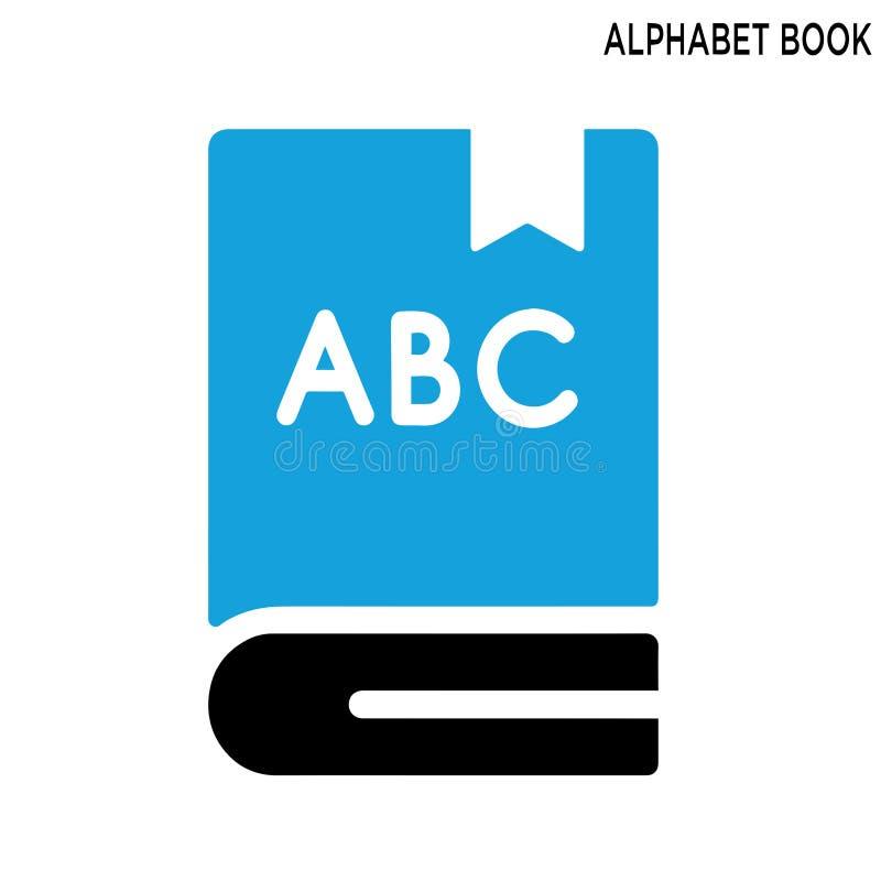 Εικονίδιο βιβλίων αλφάβητου στοκ εικόνα