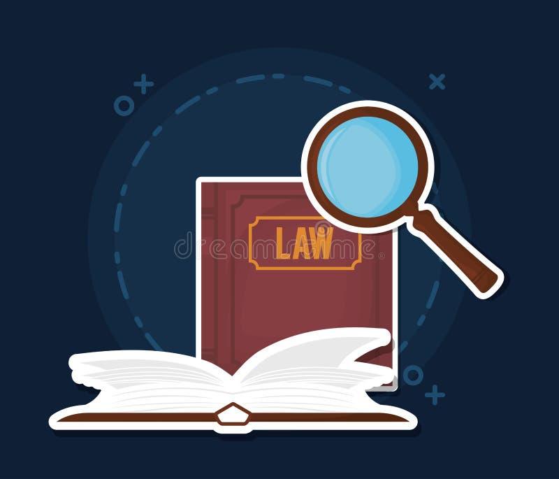 Εικονίδιο βιβλίων νόμου διανυσματική απεικόνιση