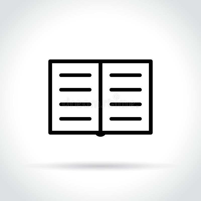 Εικονίδιο βιβλίων στο άσπρο υπόβαθρο ελεύθερη απεικόνιση δικαιώματος