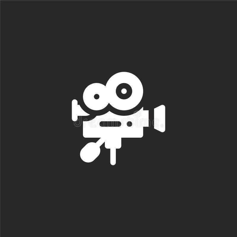 εικονίδιο βιντεοκάμερων Γεμισμένο εικονίδιο βιντεοκάμερων για το σχέδιο ιστοχώρου και κινητός, app ανάπτυξη εικονίδιο βιντεοκάμερ διανυσματική απεικόνιση