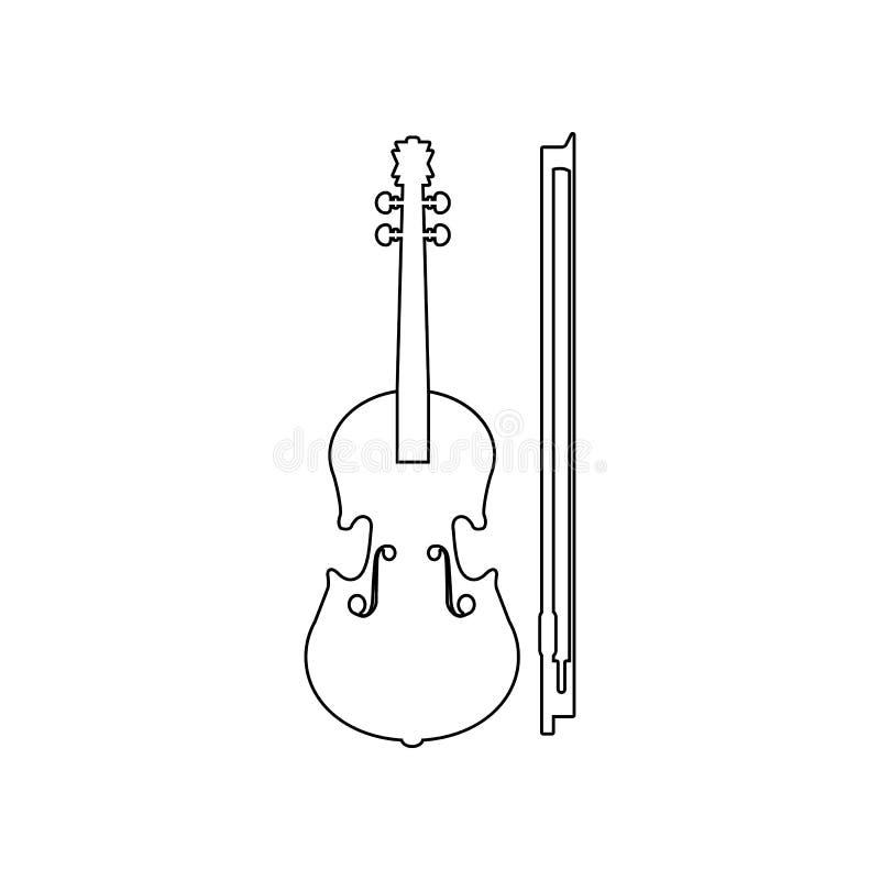 εικονίδιο βιολιών Στοιχείο του οργάνου μουσικής για το κινητό εικονίδιο έννοιας και Ιστού apps r διανυσματική απεικόνιση
