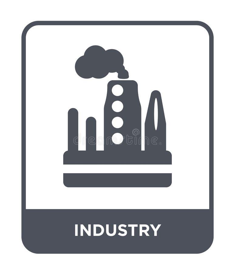 εικονίδιο βιομηχανίας στο καθιερώνον τη μόδα ύφος σχεδίου Εικονίδιο βιομηχανίας που απομονώνεται στο άσπρο υπόβαθρο απλό και σύγχ ελεύθερη απεικόνιση δικαιώματος