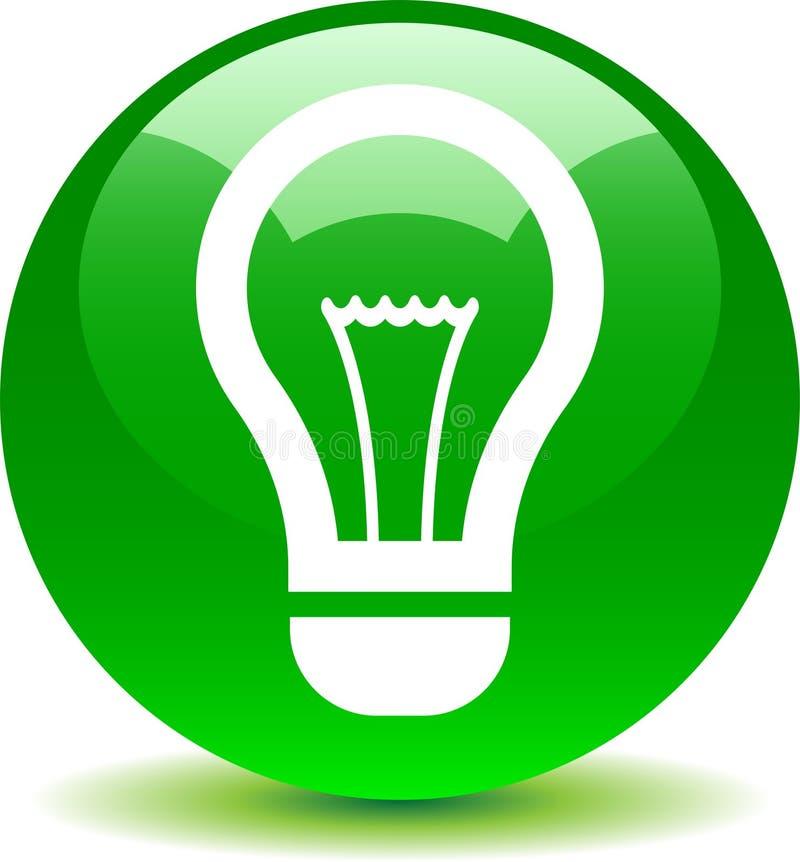 Εικονίδιο βολβών ιδέας πράσινο ελεύθερη απεικόνιση δικαιώματος
