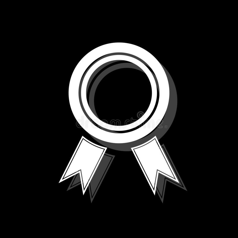 Εικονίδιο βραβείων επίπεδο απεικόνιση αποθεμάτων