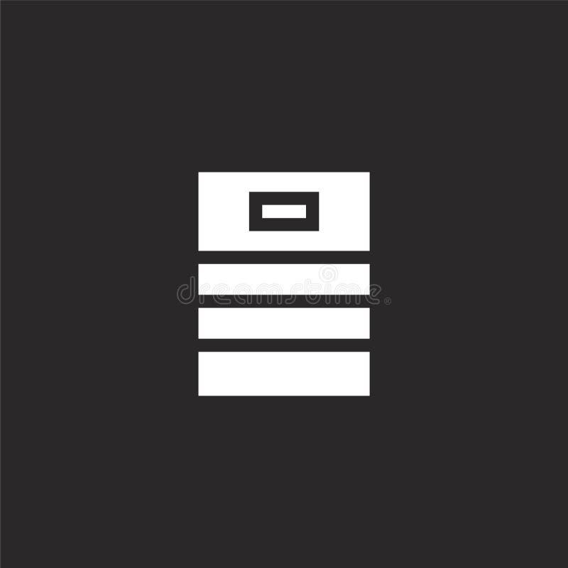 Εικονίδιο βυτίων Γεμισμένο εικονίδιο βυτίων για το σχέδιο ιστοχώρου και κινητός, app ανάπτυξη Εικονίδιο βυτίων από τη γεμισμένη σ διανυσματική απεικόνιση