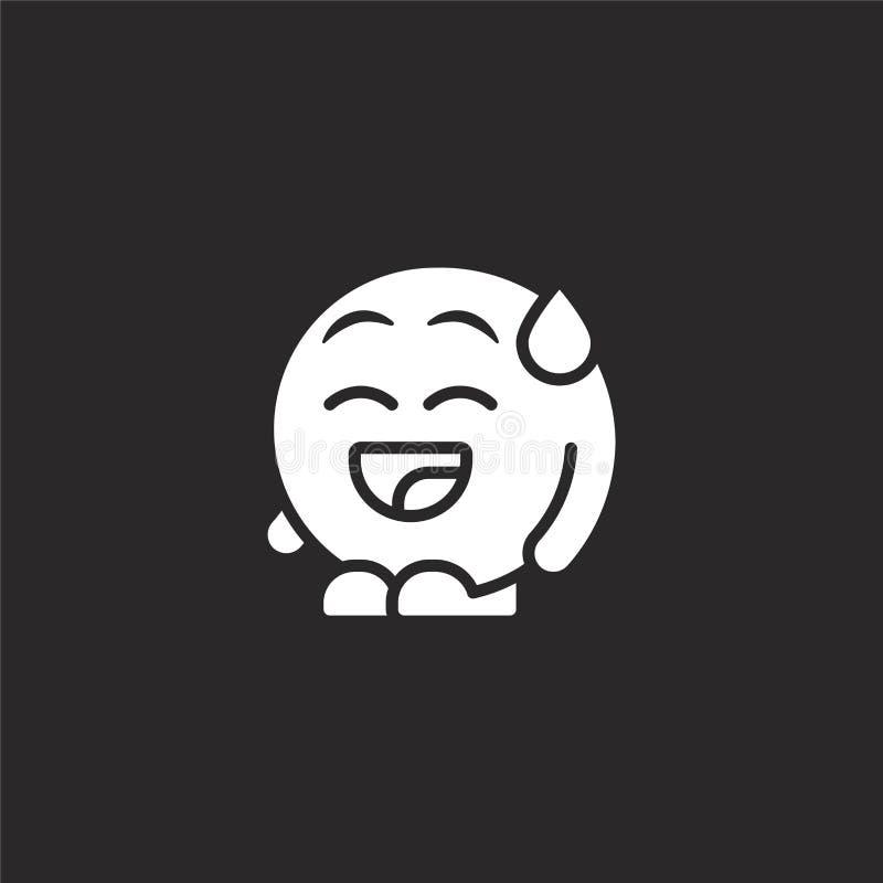 εικονίδιο γέλιου Γεμισμένο εικονίδιο γέλιου για το σχέδιο ιστοχώρου και κινητός, app ανάπτυξη εικονίδιο γέλιου από τους γεμισμένο απεικόνιση αποθεμάτων