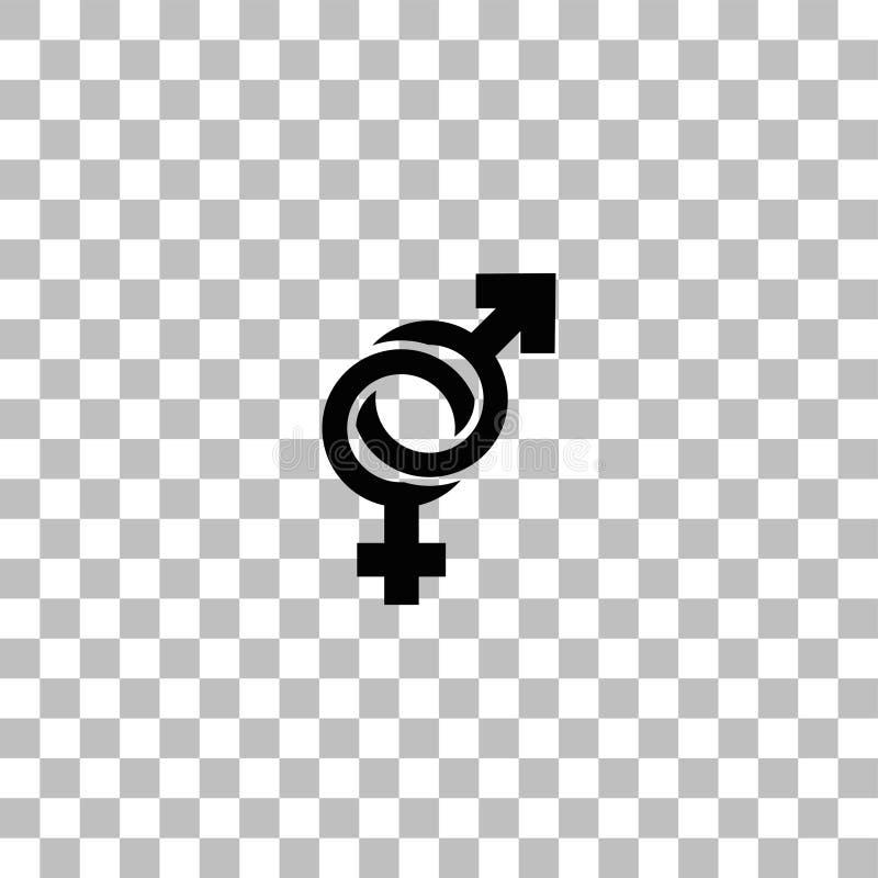 Εικονίδιο γένους επίπεδο διανυσματική απεικόνιση