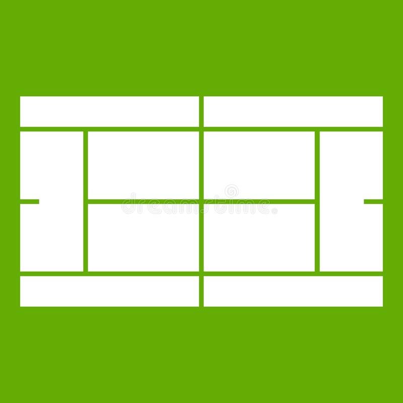 Εικονίδιο γηπέδων αντισφαίρισης πράσινο απεικόνιση αποθεμάτων