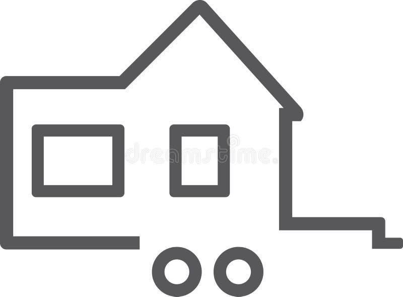 Μικροσκοπικό σπίτι Εικονίδιο για το λογότυπο ελεύθερη απεικόνιση δικαιώματος
