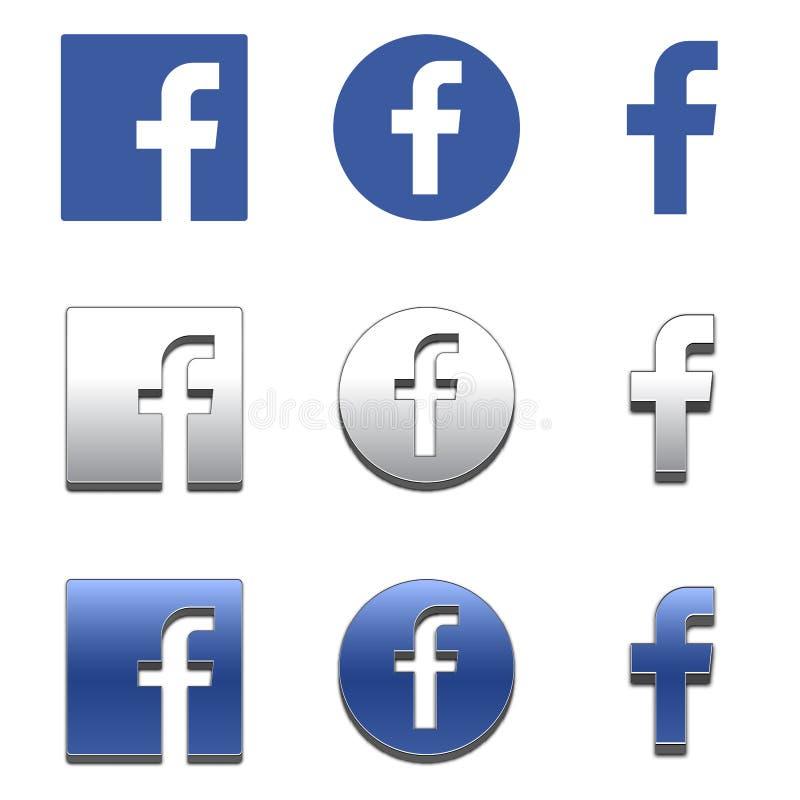 Εικονίδιο γραμμάτων Φ Κοινωνικό εικονίδιο μέσων Εικονίδιο Facebook ελεύθερη απεικόνιση δικαιώματος