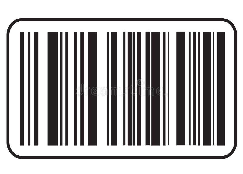 Εικονίδιο γραμμωτών κωδίκων, μαύρο εικονίδιο κώδικα φραγμών Σύμβολο για την έννοια αγορών διανυσματική απεικόνιση