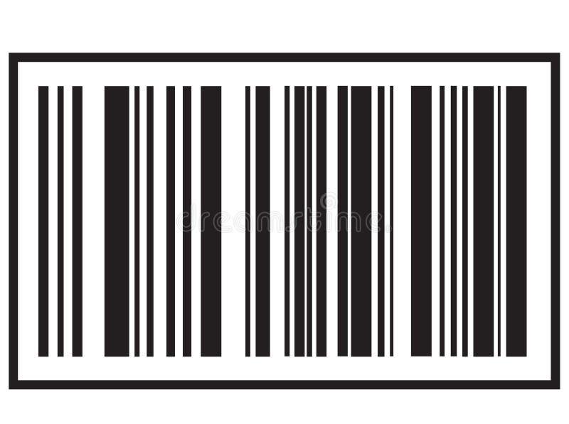Εικονίδιο γραμμωτών κωδίκων στο άσπρο υπόβαθρο Μαύρο εικονίδιο κώδικα φραγμών για το σχέδιο ιστοχώρου σας, λογότυπο, app, UI Σύμβ διανυσματική απεικόνιση
