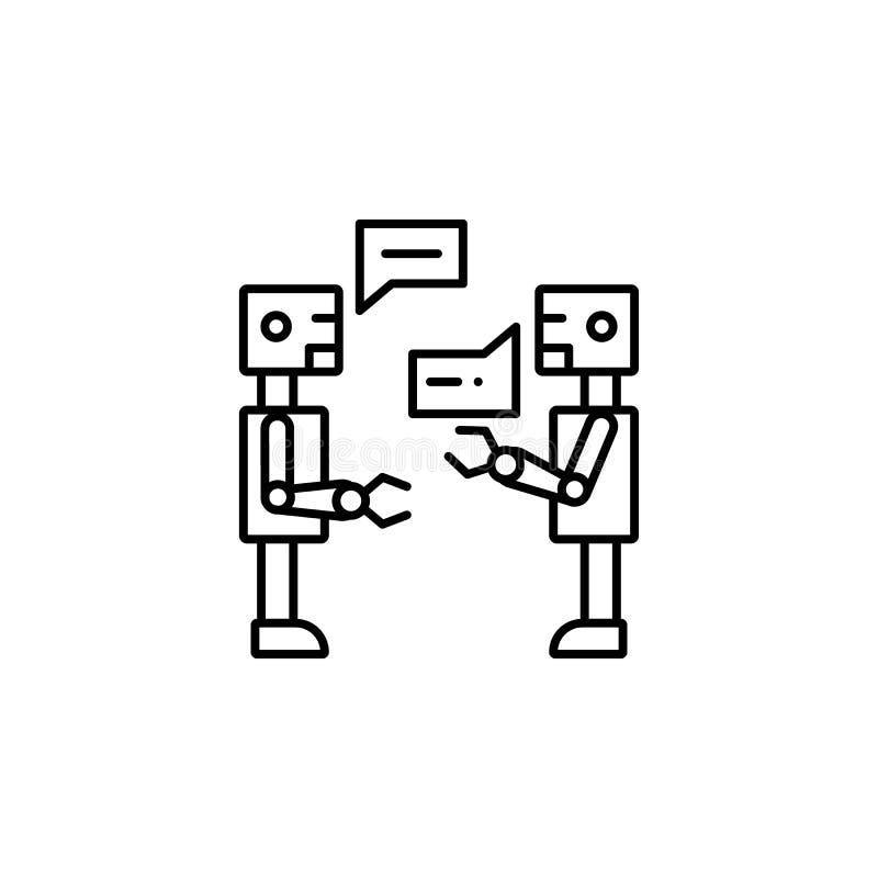 εικονίδιο γραμμών έννοιας συνομιλίας τεχνητής νοημοσύνης Απλή απεικόνιση στοιχείων Σχέδιο FR συμβόλων περιλήψεων έννοιας συνομιλί ελεύθερη απεικόνιση δικαιώματος