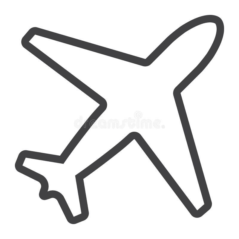 Εικονίδιο γραμμών αεροπλάνων, Ιστός και κινητός, τρόπος πτήσης ελεύθερη απεικόνιση δικαιώματος