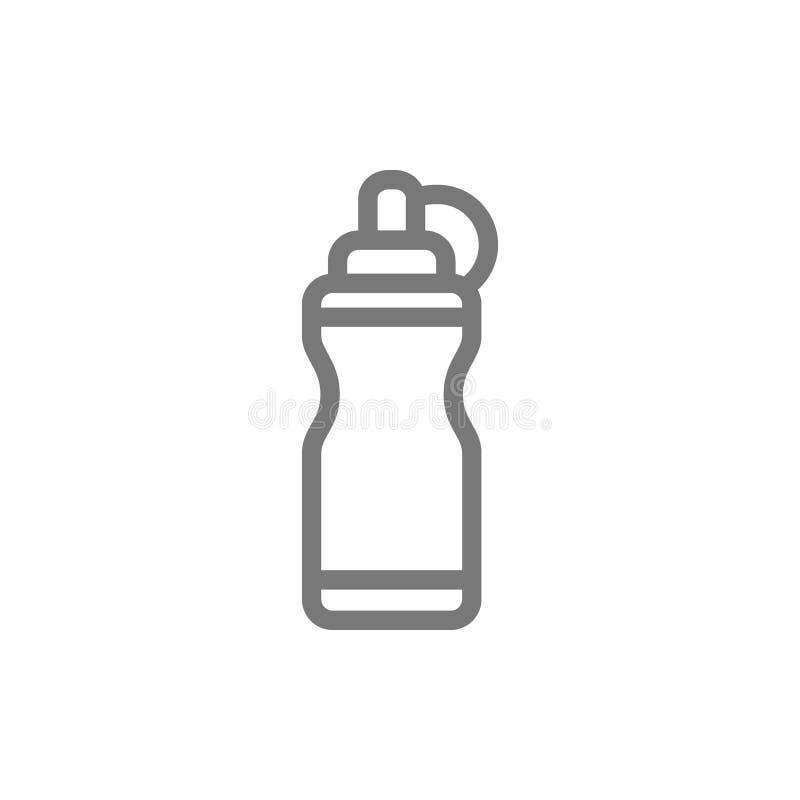 Εικονίδιο γραμμών αθλητικών μπουκαλιών νερό απεικόνιση αποθεμάτων