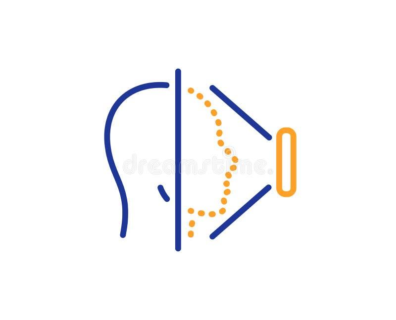 Εικονίδιο γραμμών ανίχνευσης προσώπου Σημάδι ταυτότητας τηλεφωνικού προσώπου διάνυσμα απεικόνιση αποθεμάτων