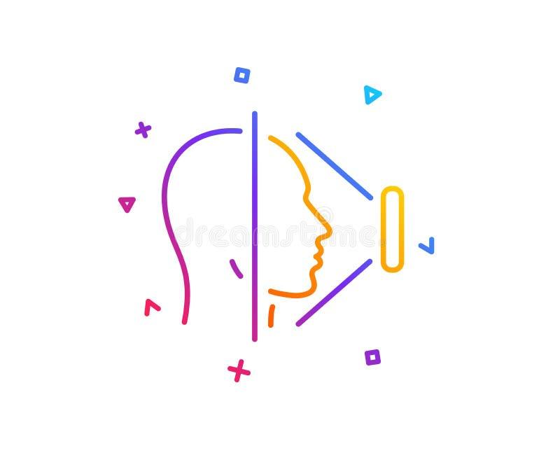 Εικονίδιο γραμμών ανίχνευσης προσώπου Σημάδι ταυτότητας τηλεφωνικού προσώπου διάνυσμα διανυσματική απεικόνιση