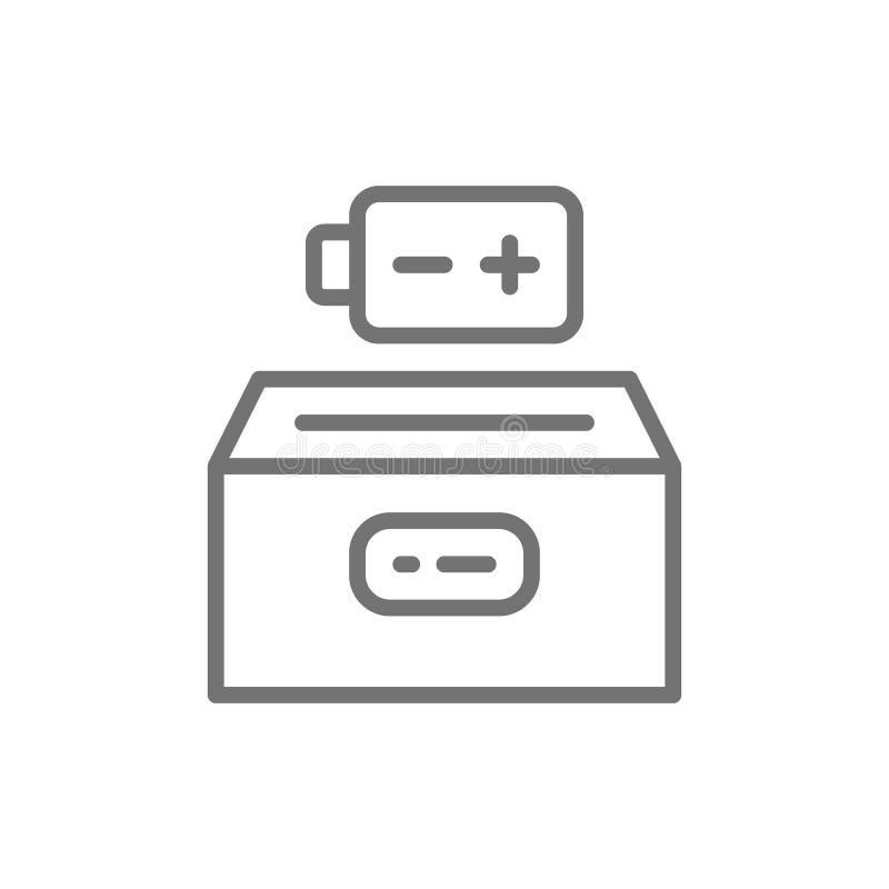 Εικονίδιο γραμμών ανακύκλωσης μπαταριών o διανυσματική απεικόνιση