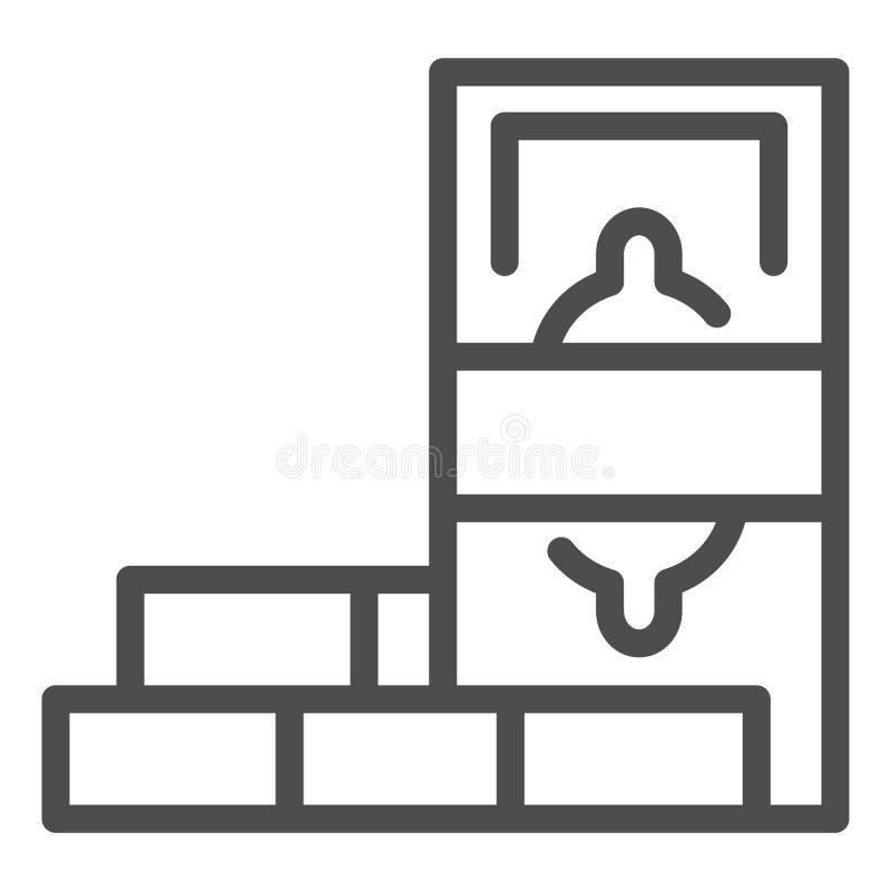 Εικονίδιο γραμμών αποταμίευσης νομίσματος Δολάριο και διανυσματική απεικόνιση τούβλων που απομονώνονται στο λευκό Σχέδιο ύφους πε απεικόνιση αποθεμάτων